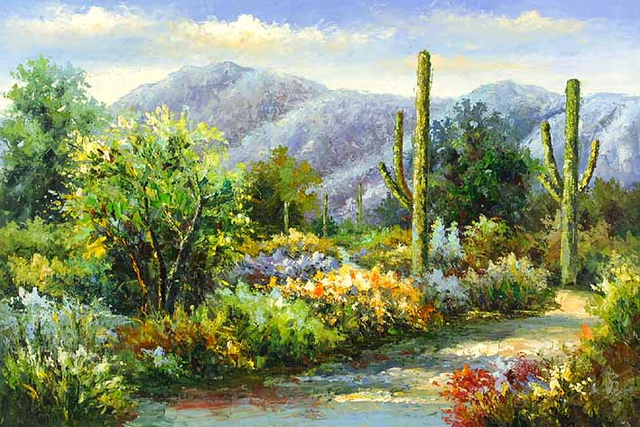 Flora Valley oil painting