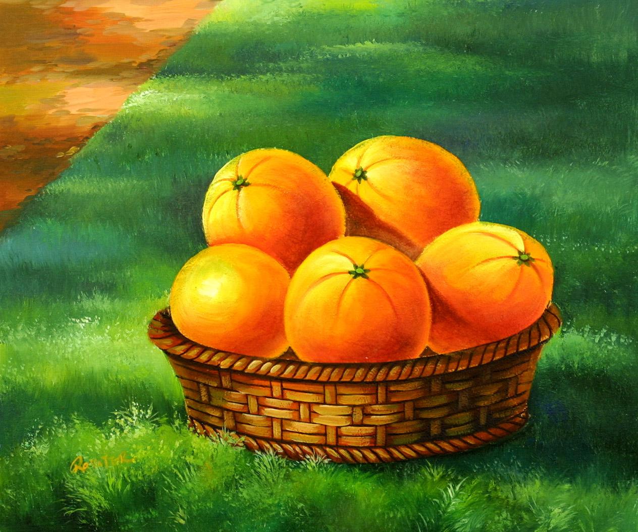 A Basket Of Oranges