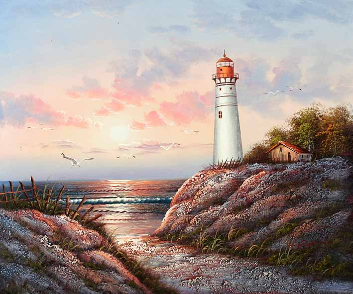 Dune Landscape with Lighthouse