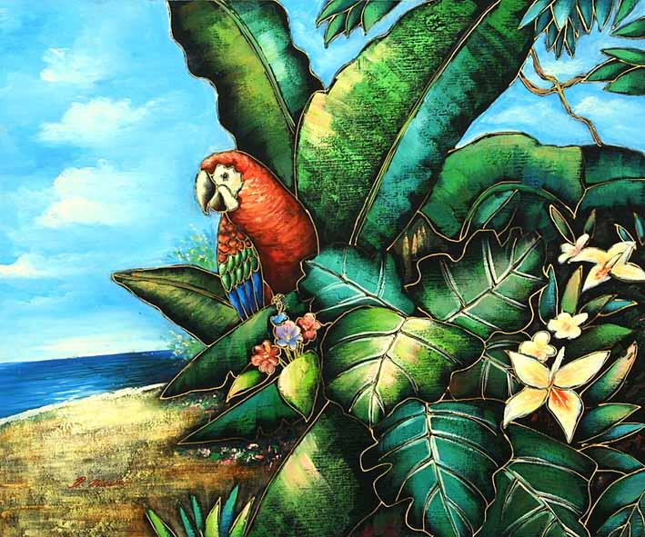 Sitting On A Beach Palm