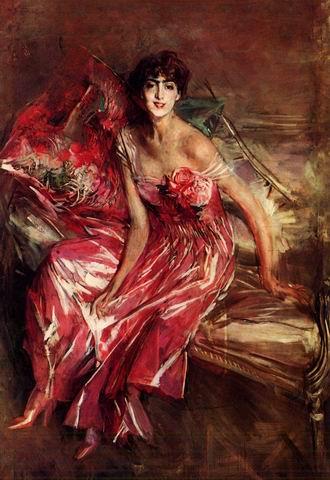 Die Dame in Rot