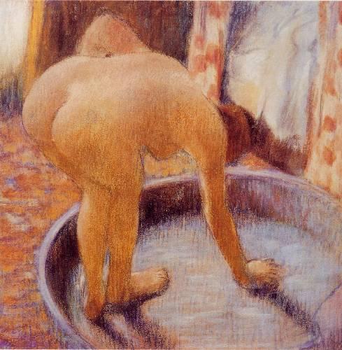 bathing nude girl