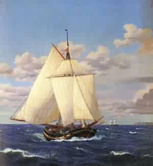 En Dansk Yacht Passerer Stevn