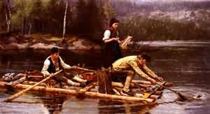 Fischfang Am Flusse