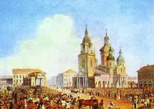 Sennaya Square In St Petersburg 1821-1826