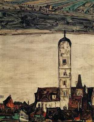 Church in Stein on the Danube painting, a Egon Schiele paintings reproduction, we never sell Church