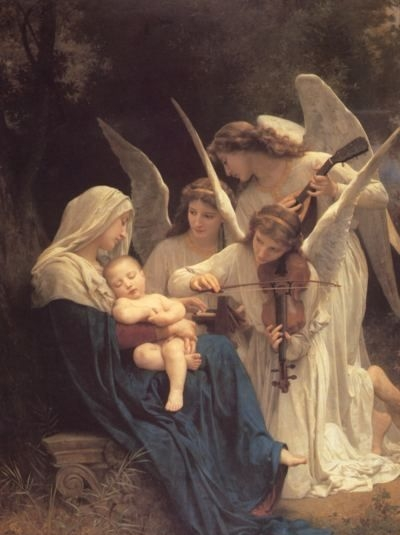 The Virgin with Angels - Oil Painting Reproduction