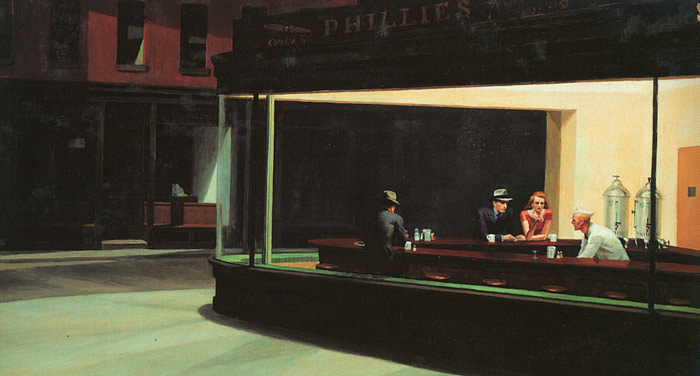 Oil Painting Reproduction of Hopper- Nighthawks