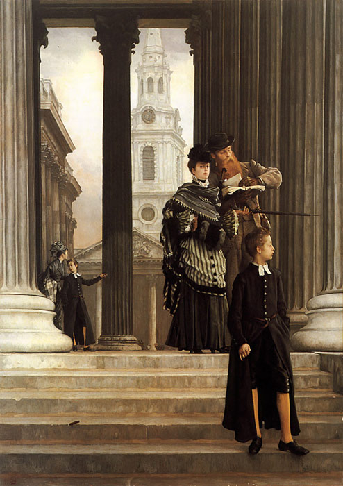 Oil Painting Reproduction of Tissot - London Visitors
