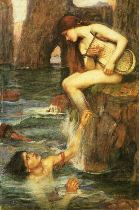 Oil Painting Reproduction of Waterhouse- The Siren