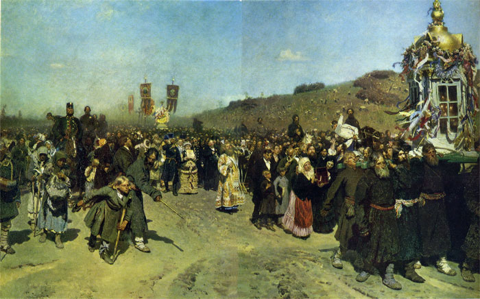 Repin Oil Painting Reproductions- Christians in Kursk