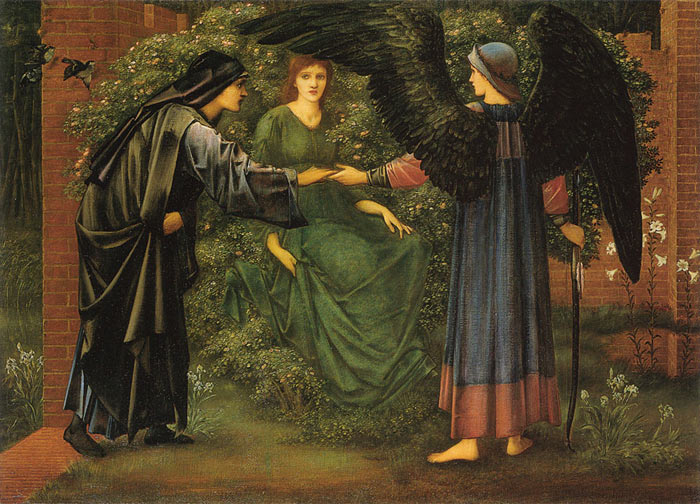 Oil Painting Reproduction of Burne-Jones- The Heart of the Rose