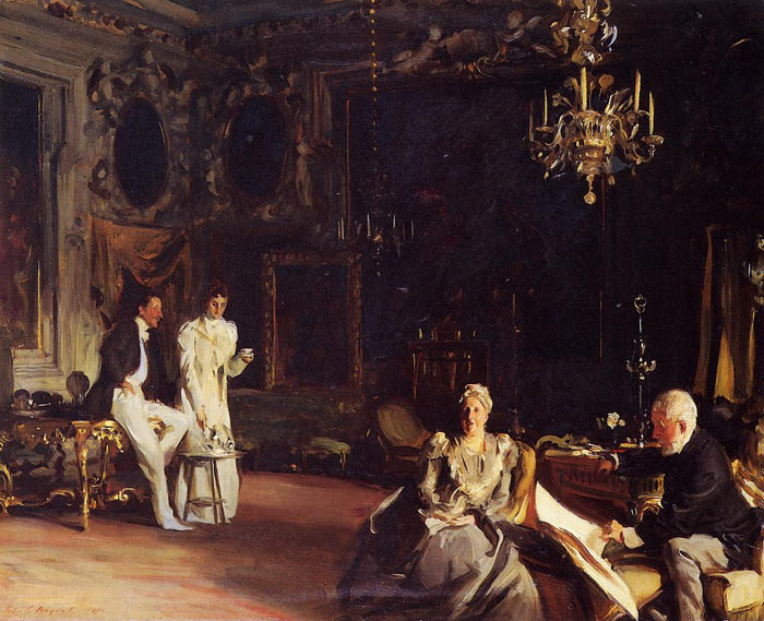 Oil Painting Reproduction of Sargent- An Interior in Venice
