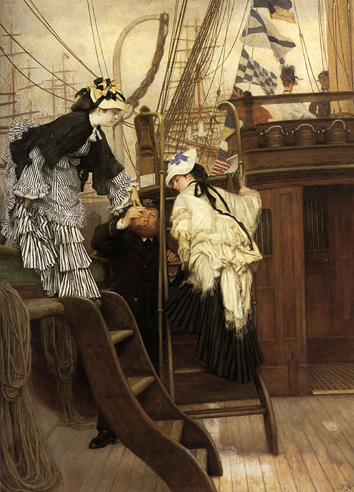 Oil Painting Reproduction of Tissot- Boarding the Yacht