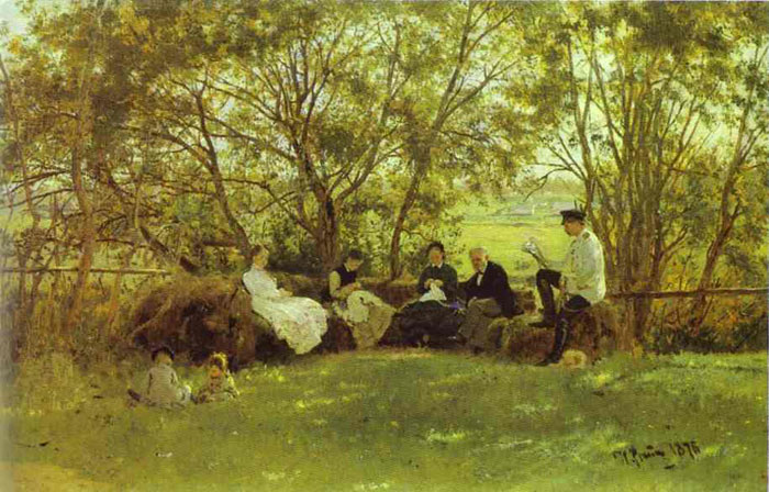 Repin Oil Painting Reproductions- Under the Shade