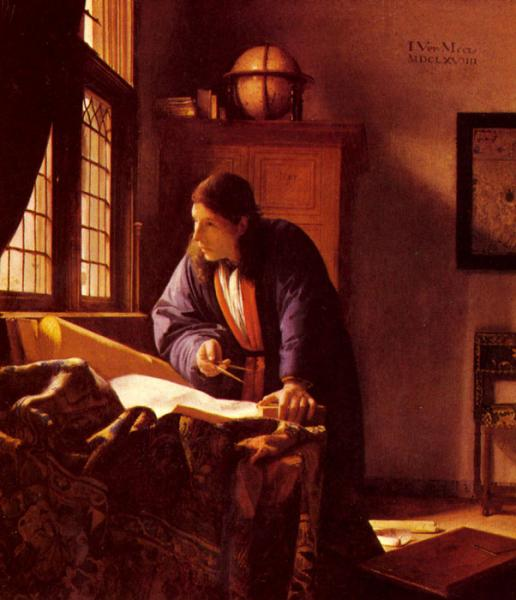 Vermeer Oil Painting Reproductions- The Geographer