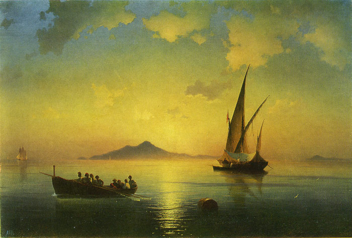 Aivazovsky Oil Painting Reproductions - The Bay of Naples