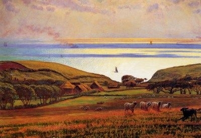 Fairlight Downs (Sunlight on he Sea) - Oil Painting Reproduction