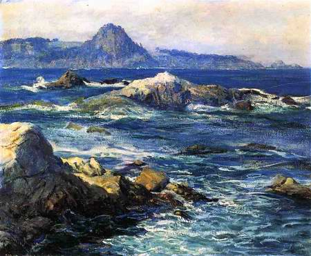 Off Mission Point painting, a Guy Orlando Rose paintings reproduction