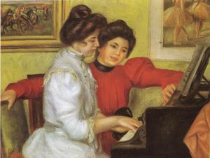 Oil Painting Reproduction of Renoir- Yvonne and Christine Lerolle