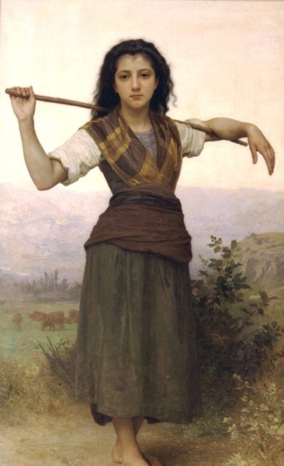 Shepherdess - Oil Painting Reproduction