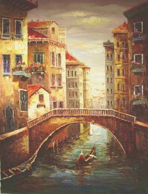 Venetian painting, a knife painters paintings reproduction, we never sell Venetian poster