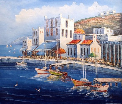 yacht painting, a unknown artist paintings reproduction, we never sell yacht poster