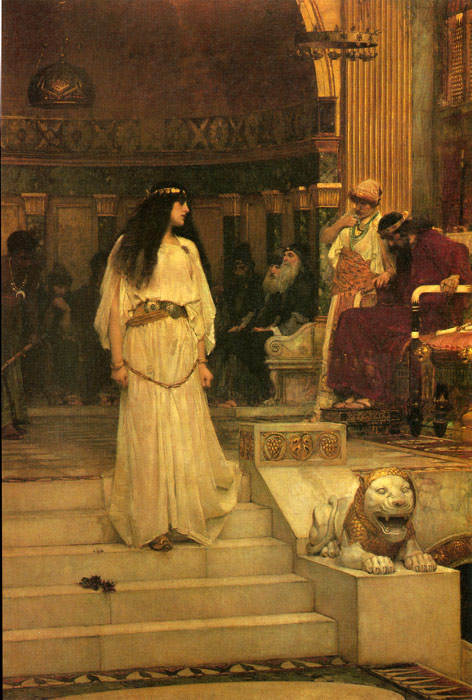 Oil Painting Reproduction of Waterhouse- Mariamne Leaving the Judgement Seat of Herod