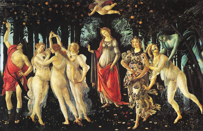 Botticelli Oil Painting Reproductions- Allegory of Spring