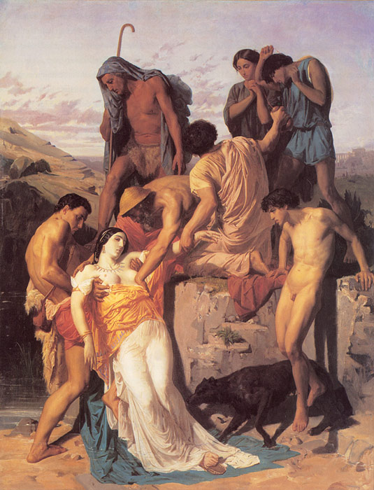 Bouguereau Oil Painting Reproductions - Zenobia Found by Shepherds on the Banks of the Araxes