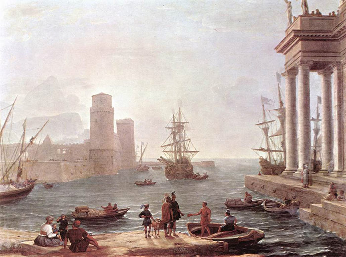 Claude Lorrain Oil Painting Reproductions- Departure of Ulysses