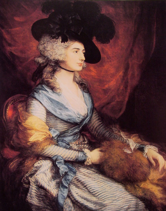 Oil Painting Reproduction of Gainsborough- Mrs Sarah Siddons