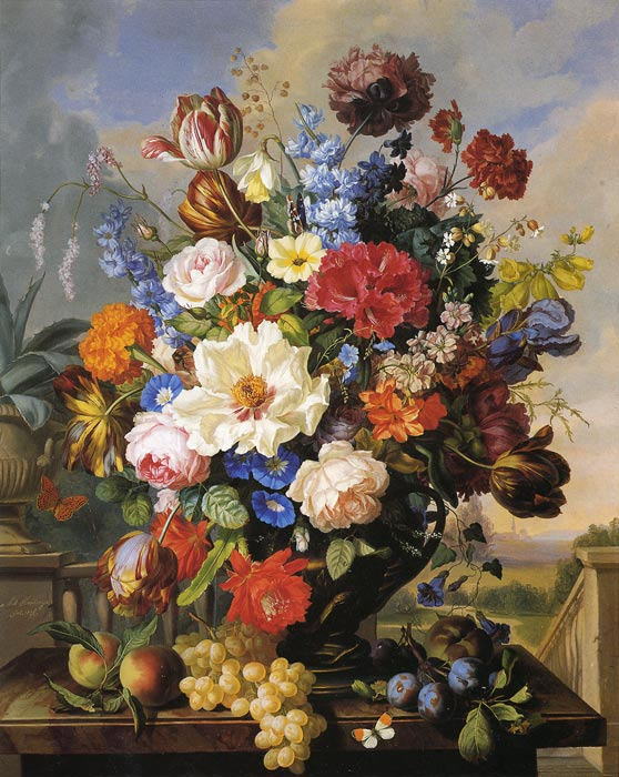 Oil Painting Reproduction of Hartinger- Blumenstilleben