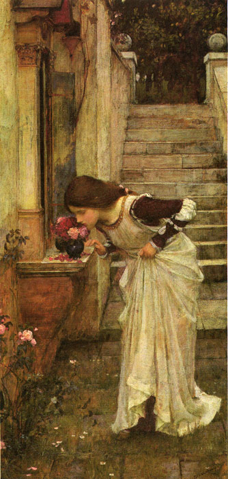 Oil Painting Reproduction of Waterhouse- At the Shrine