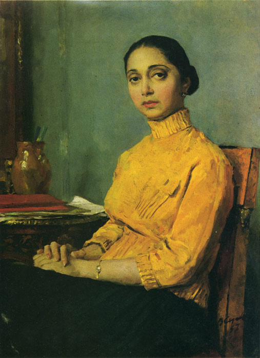 Serov Oil Painting Reproductions- Portrait of a Woman in Yellow
