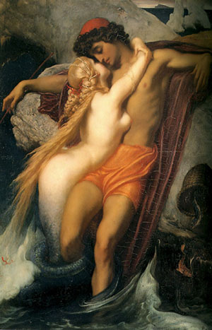 The Fisherman and the Syren painting, a Lord Frederic Leighton paintings reproduction, we never sell