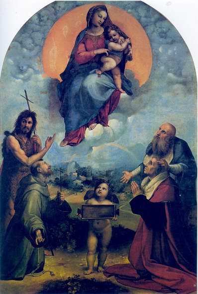 The Madonna of Foligno painting, a Raphael Santi paintings reproduction
