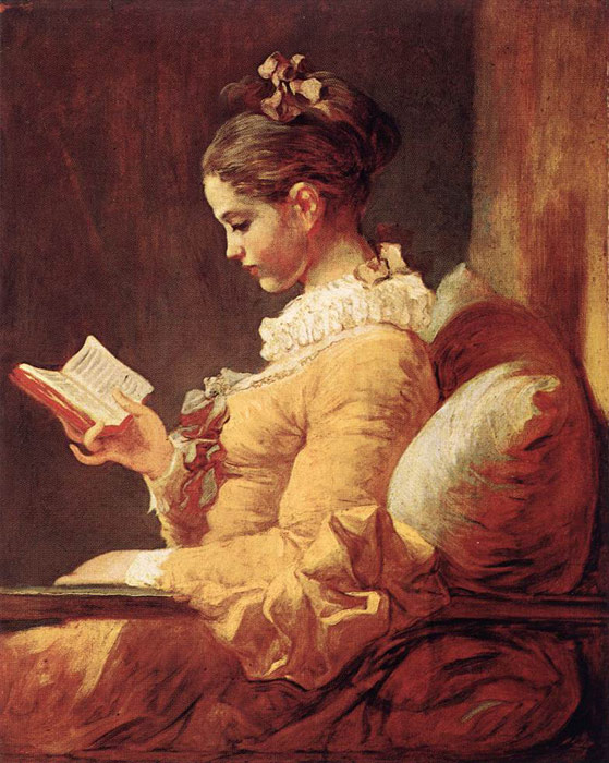 Oil Painting Reproduction of Fragonard- A Young Girl Reading