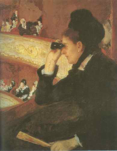 At the Opera. 1979 painting, a Mary Cassatt paintings reproduction