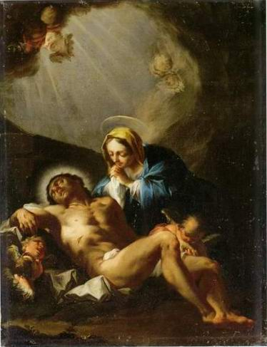 The Pieta painting, a Francesco Trevisani paintings reproduction, we never sell The Pieta poster