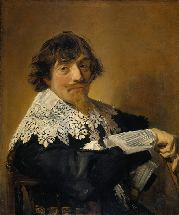 Oil Painting Reproduction of Frans Hals - Portrait of a man Nicolaes Hasselaer