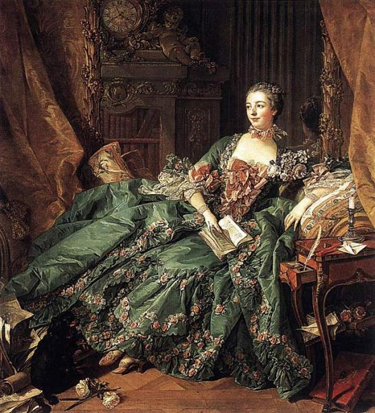 Boucher Oil Painting Reproductions - Madame de Pompadour