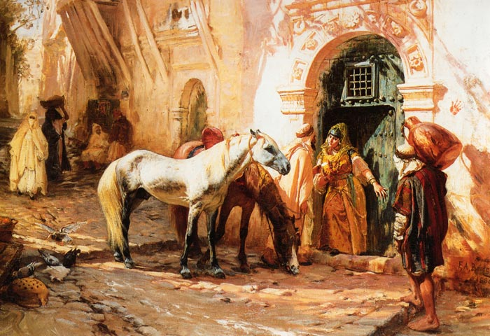 Bridgeman Oil Painting Reproductions - Scene in Morocco