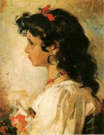 Cabeza de Italiana painting, a Joaquin Sorolla Bastida paintings reproduction