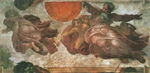 Creazione degli Astri painting, a Michelangelo paintings reproduction
