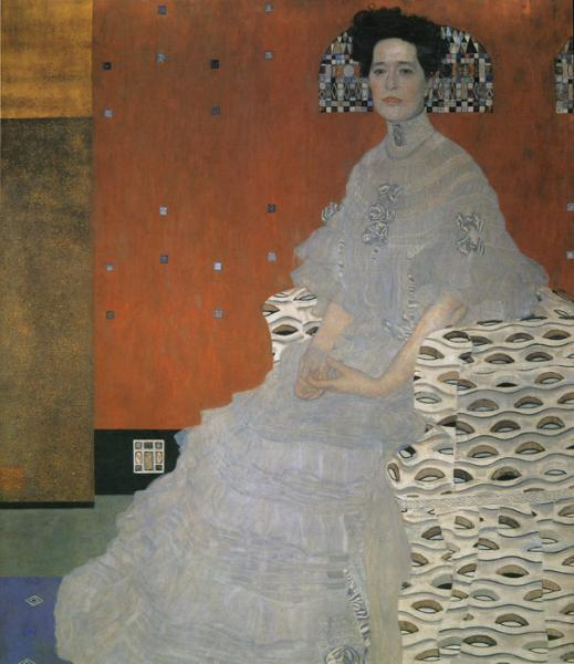 Klimt Oil Painting Reproductions- Portrait of Efritza Riedler