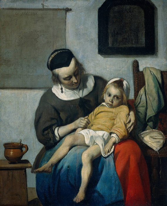 Metsu Oil Painting Reproductions - The Sick Child