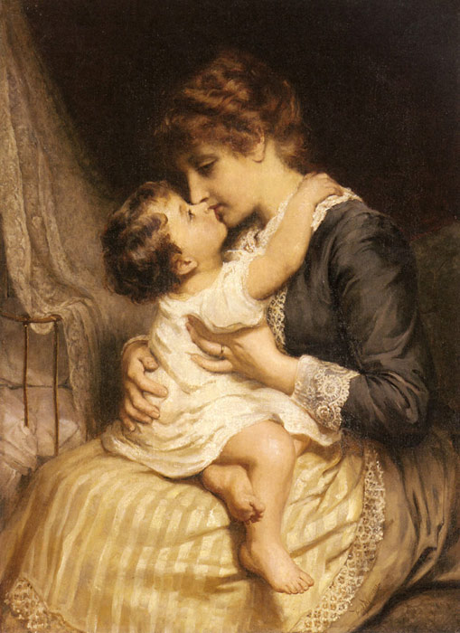 Morgan Oil Painting Reproductions - Motherly Love