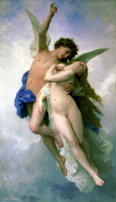 Oil Painting Reproduction of Bouguereau - Psyche and Cupid
