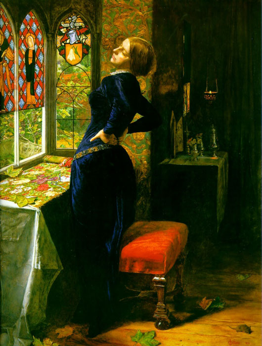 Oil Painting Reproduction of Millais- Mariana in the Moated Grange